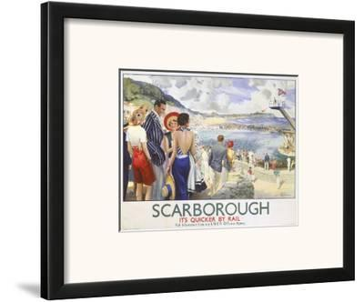 Scarborough, It's Quicker by Rail--Framed Art Print