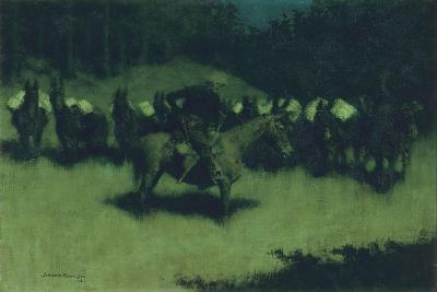 Scare in a Pack Train, 1908-Frederic Remington-Giclee Print