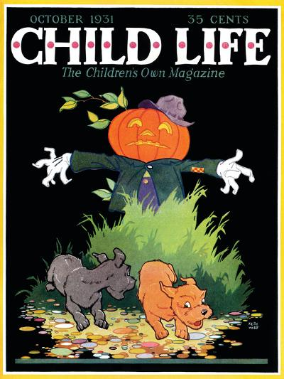 Scarecrow - Child Life, October 1931-Keith Ward-Giclee Print