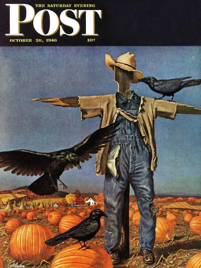 """Scarecrow,"" Saturday Evening Post Cover, October 26, 1946-John Atherton-Giclee Print"