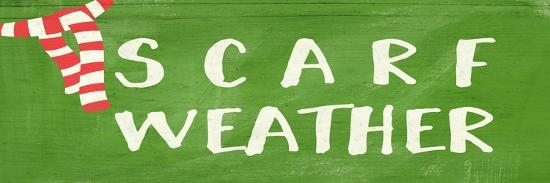 Scarf Weather-Linda Woods-Art Print