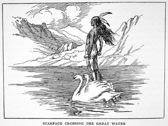 'Scarface Crossing the Great Water', 1925-Unknown-Giclee Print