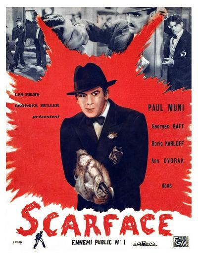 Scarface, Paul Muni, 1932--Photo