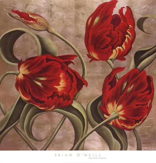 Scarlet Arabesque-Brian McGee-Art Print
