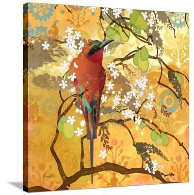 Scarlet Bee Eater--Stretched Canvas Print