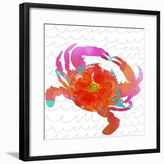 Scarlet Crustation-Edith Jackson-Framed Art Print