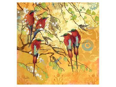 Scarlet Flutters--Art Print
