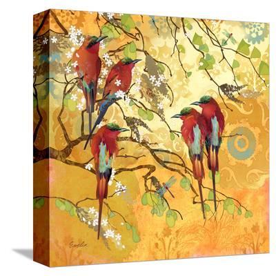 Scarlet Flutters--Stretched Canvas Print