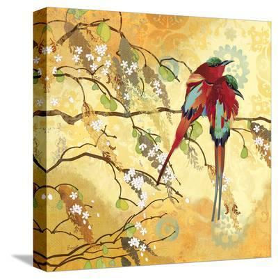 Scarlet Looks--Stretched Canvas Print