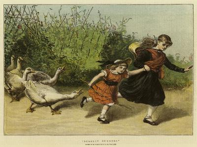 Scarlet Runners-Samuel Edmund Waller-Giclee Print
