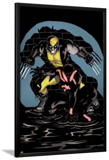 Scarlet Spider #18 Cover: Wolverine, Scarlet Spider-Ryan Stegman-Lamina Framed Poster