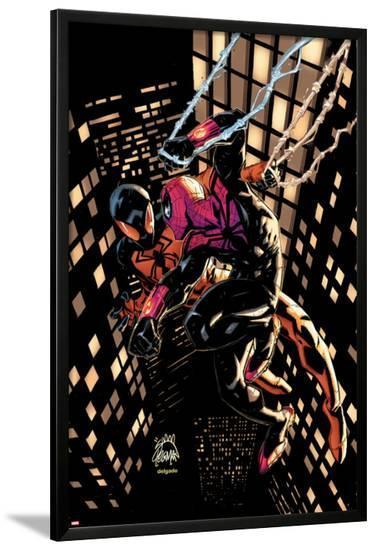 Scarlet Spider #20 Cover: Scarlet Spider, Spider-Man-Ryan Stegman-Lamina Framed Poster