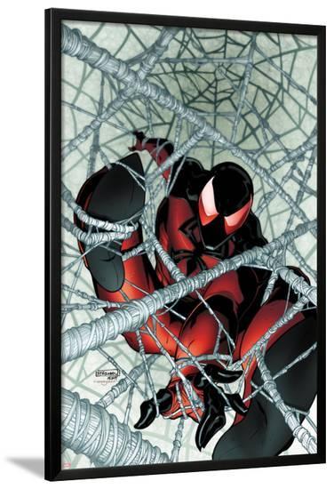 Scarlet Spider No.1: Scarlet Spider in a Web-Ryan Stegman-Lamina Framed Poster