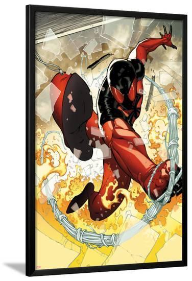 Scarlet Spider No.2: Scarlet Spider in Web and Flames-Ryan Stegman-Lamina Framed Poster