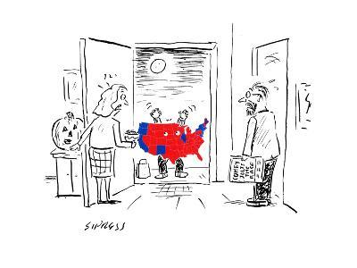 Scary Electoral Map Costume - Cartoon-David Sipress-Premium Giclee Print