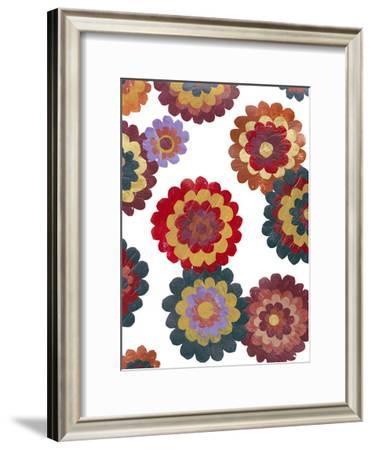 Scattered Blooms II-Regina Moore-Framed Art Print