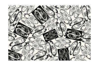 Scattered Mens Shoes-THE Studio-Premium Giclee Print