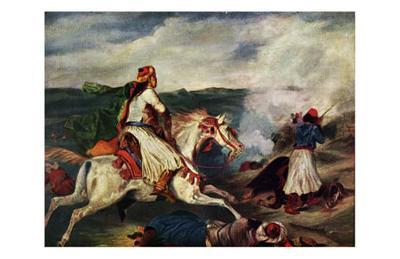 Sce`ne de la Guerre En Gre`ce-Eugene Delacroix-Art Print