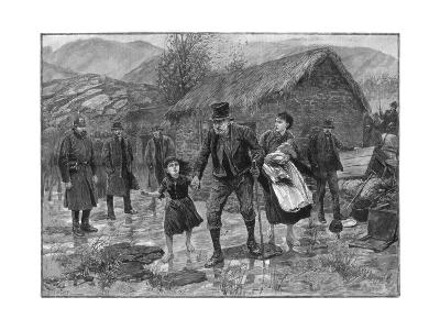 Scene at an Irish Eviction in County Kerry, 1887-P Naumann-Giclee Print