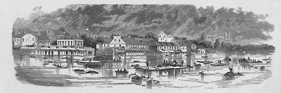 'Scene at Baton Rouge during the Floods of 1874', 1883-Unknown-Giclee Print