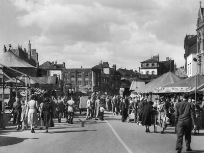 Scene at Boston Fair Lincolnshire Which is Held Annually in the Town--Photographic Print