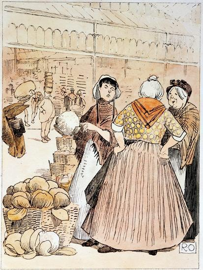 Scene at Covent Garden Fruit and Vegetable Market, London, Early 20th Century--Giclee Print