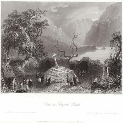 Scene at Gougane Barra in County Cork-William Henry Bartlett-Giclee Print
