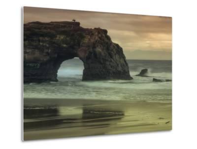 Scene at Natural Bridges, Santa Cruz-Vincent James-Metal Print