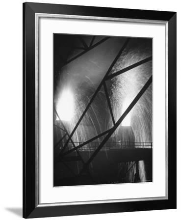 Scene at the Carnegie Illinois Steel Company-Andreas Feininger-Framed Photographic Print