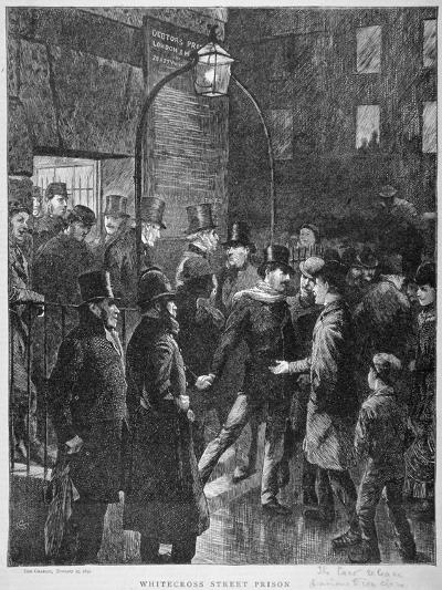Scene at Whitecross Street Prison Showing a Release of Prisoners, London, 1870--Giclee Print