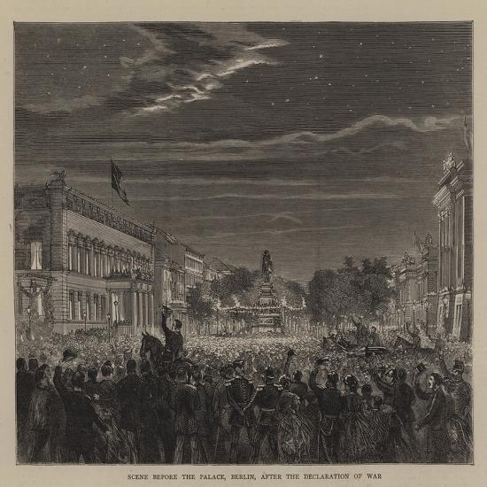 Scene before the Palace, Berlin, after the Declaration of War--Giclee Print