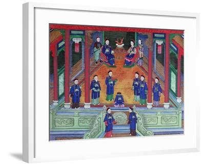 Scene Depicting a Chinese Imperial Official at Home Seated with His Wife