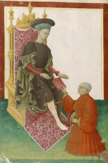Scene Depicting the Court, Miniature, France 15th Century--Giclee Print