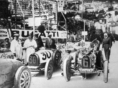 Scene During Practice for the Monaco Grand Prix, 1929--Photographic Print