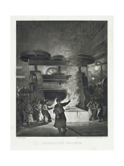Scene from a Bessemer Works, Printed by Meisenbach Riffarth Und Co., Berlin 1893-Anders Montan-Giclee Print