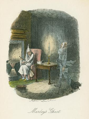 Scene from a Christmas Carol by Charles Dickens, 1843-John Leech-Giclee Print