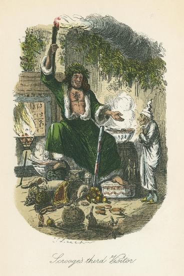 Scene from a Christmas Carol by Charles Dickens, 1843-John Leech-Premium Giclee Print