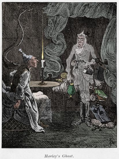 Scene from A Christmas Carol by Charles Dickens, 1843-Unknown-Giclee Print
