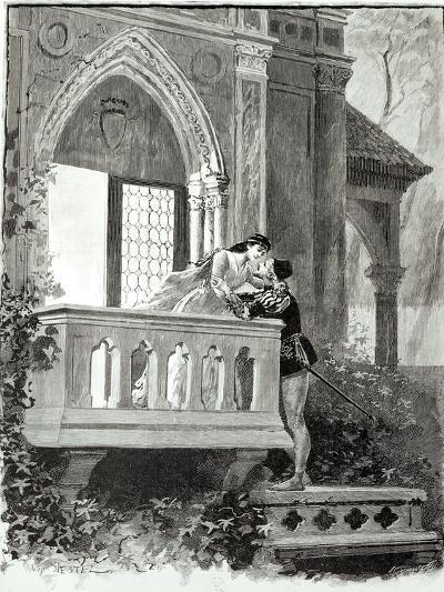 Scene from Act II of Romeo and Juliet, Performed at the Theatre National de L'Opera, 1888-Paul Destez-Giclee Print