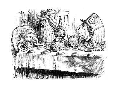 Scene from Alice's Adventures in Wonderland by Lewis Carroll, 1865-John Tenniel-Giclee Print