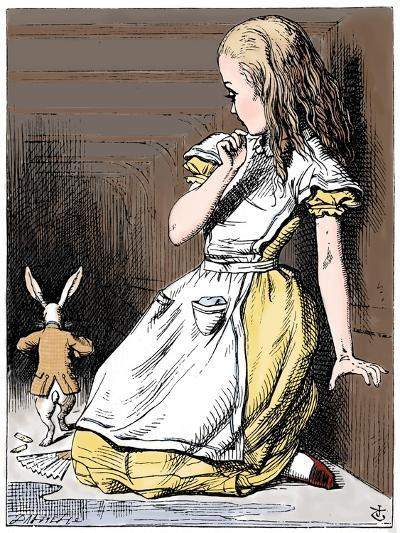 Scene from Alice's Adventures in Wonderland by Lewis Carroll, 1865-John Tenniel-Giclee Print