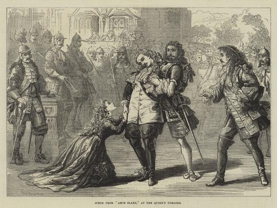 Scene from Amos Clark, at the Queen's Theatre-David Henry Friston-Giclee Print