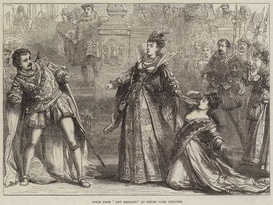 Scene from Amy Robsart, at Drury Lane Theatre-David Henry Friston-Giclee Print