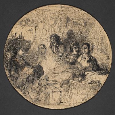 Scene from Bohemian Life, 1855-57-James Abbott McNeill Whistler-Giclee Print