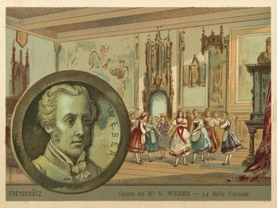 Scene from Carl Maria Von Weber's Opera Der Freischutz--Giclee Print