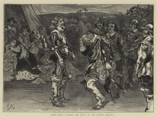 Scene from Charles the First at the Lyceum Theatre-Edward John Gregory-Giclee Print