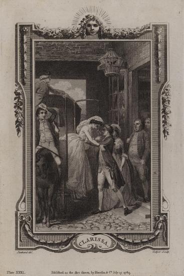 Scene from Clarissa-Samuel Richardson-Giclee Print