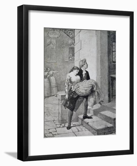 Scene from Comedy Women's Gossip-Carlo Goldoni-Framed Giclee Print