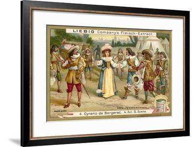 Scene from Cyrano De Bergerac--Framed Giclee Print