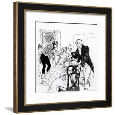 Scene from 'Headlong Hall' by Thomas Loue Peacock, 1815--Framed Giclee Print